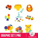 Baby Gears And Toys - PNG Clip Arts
