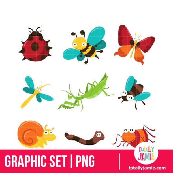 Happy Bugaboo Insects Icons