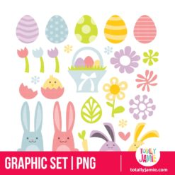 Happy Sweet Easter Spring Clip Arts - PNG Clip Arts
