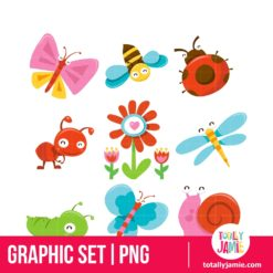 Happy Sweet Garden Bugs Set