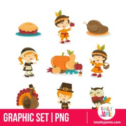 Retro Autumn Festival Thanksgiving Icons