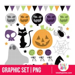 Retro Halloween - PNG Clip Arts