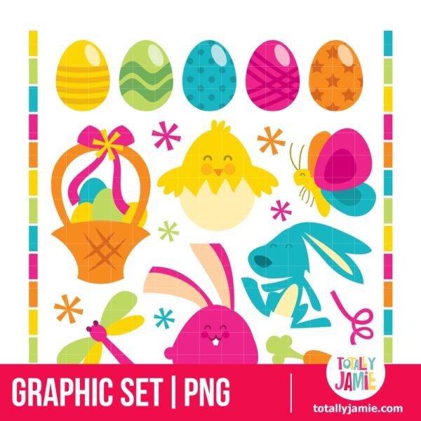 Retro Happy Easter Set