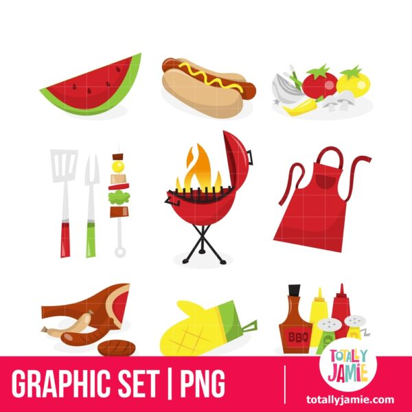 Summer Barbecue Icons