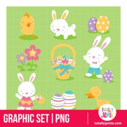 Super Cute Easter Icons - PNG Clip Arts