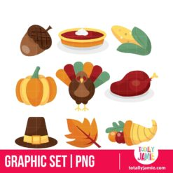 Thanksgiving Icons - PNG Clip Arts
