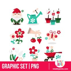 Whimsical Gardening Icons