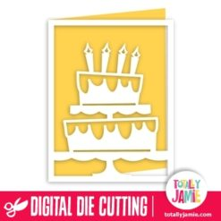 A2 Birthday Cake Cutout Card