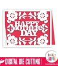 A2 Flower Accent Happy Mothers Day Card