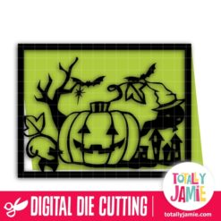 A2 Halloween Scene Cutout Card - SVG Cut Files