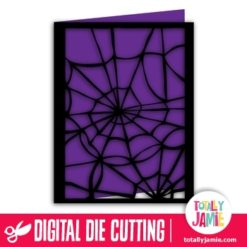 A2 Halloween Spider Web Card