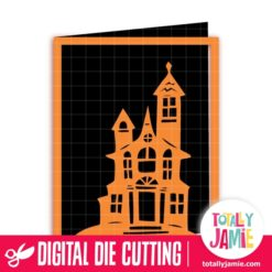 A2 Halloween Spooky Manor Card - SVG Cut Files