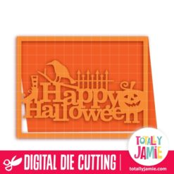 A2 Halloween Spooky Title Decor Card - SVG Cut Files