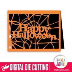 A2 Happy Halloween Spider Web Card