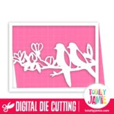 A2 Love Birds Card - SVG Cut Files
