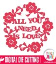 All You Need Is Love Floral Decoration