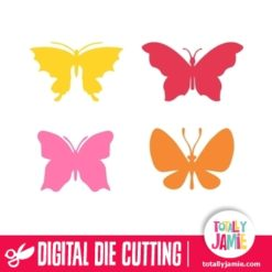 This assorted butterflies 3 set comes in 4 different butterfly die cutting files.