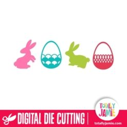 Assorted Easter Bunnies Eggs Set 3 - SVG Cut Files