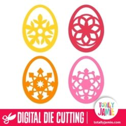 Assorted Filigree Easter Eggs Set 1 - SVG Cut Files