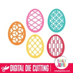 Assorted Filigree Easter Eggs Set 2 - SVG Cut Files