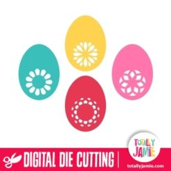 Assorted Floral Filigree Easter Eggs Set 1 - SVG Cut Files