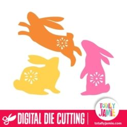 Assorted Folk Easter Bunnies Set - SVG Cut Files