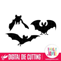 Assorted Halloween Bats Set 1 - SVG Cut Files