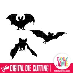 Assorted Halloween Bats Set 2 - SVG Cut Files