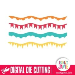 Assorted Wave Party Bunting