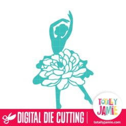 Ballerina Dancer Floral Tutu - SVG Cut Files