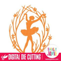 Ballerina Dancer Tree Branch Frame 2 - SVG Cut Files