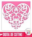 Baroque Heart Gatefold Card - SVG Cut Files