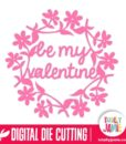 Be My Valentine Flower Wreath
