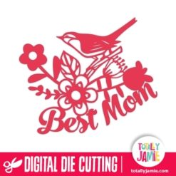 Best Mom Bird Floral Decor