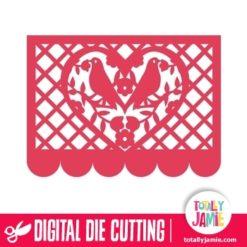 Bird Flourish Heart Mexican Paper Decoration 2