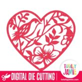 Bird Flower Heart - SVG Cut Files
