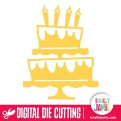 Birthday Cake Cutout