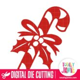 Candy Cane Holly Decoration - SVG Cut Files