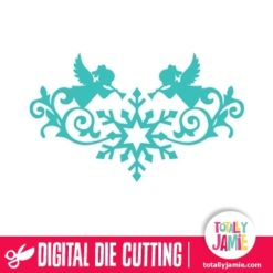 Christmas Angel Snowflake Flourish - SVG Cut Files