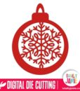 Christmas Bauble Intricate Snowflake