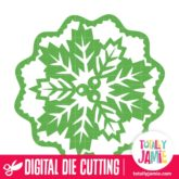 Christmas Holly Decoration Background - SVG Cut Files