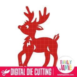 Christmas Reindeer 7 - SVG Cut Files