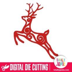 Christmas Reindeer Filigree