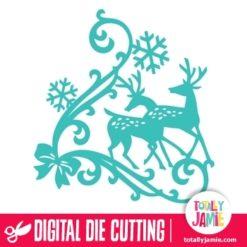 Christmas Reindeer Snowflake Flourish 2