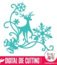 Christmas Reindeer Snowflake Flourish 4