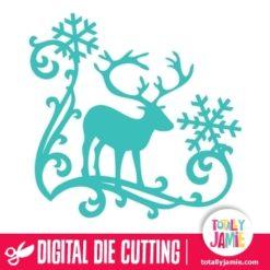 Christmas Reindeer Snowflake Flourish 5