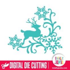 Christmas Reindeer Snowflake Flourish 6