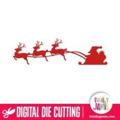 Christmas Santa Sleigh Reindeer 1