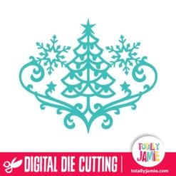 Christmas Tree Snowflake Flourish - SVG Cut Files