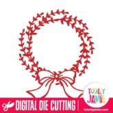 Christmas Wreath Bow Ribbon - SVG Cut Files